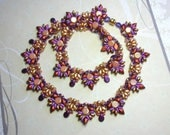 Tutorial - Inka Necklace - Diamond Duo, Honeycomb, Super Duo and Swarovski beads beading tutorial