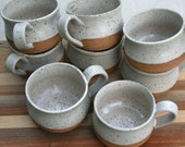 rustic coffee cup, expresso cup, cappuccino cup, demitasse, tea cup, minimal pottery, white speckled pottery, breakfast, coffee lover gift