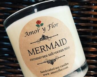 Mermaid Soy Candle - Glass Tumbler 10 oz