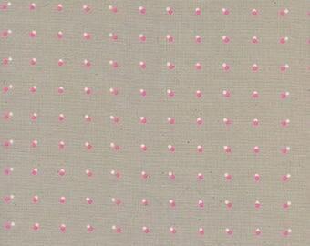 Cotton + Steel - Black & White 2017 - Double Dots Neon Pink