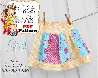 Sara, Girl's Skirt Patterns pdf, Ruffle Skirt Patterns, Toddler Skirt Patterns. Girl's Sewing Patterns. Toddler pdf  Patterns. Baby Patterns