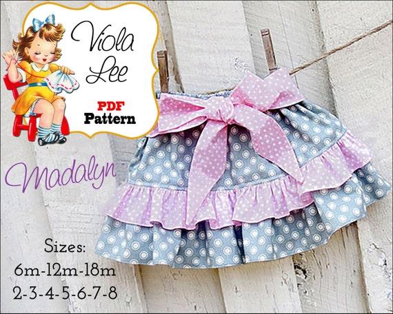 Madalyn Toddler Skirt Pattern. Girls Skirt Pattern. Baby pdf Sewing Pattern, Ruffle Skirt Pattern. Toddler Sewing Pattern. pdf Pattern