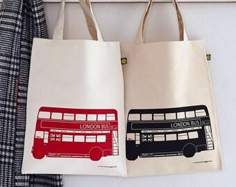 London Bus Canvas Bag