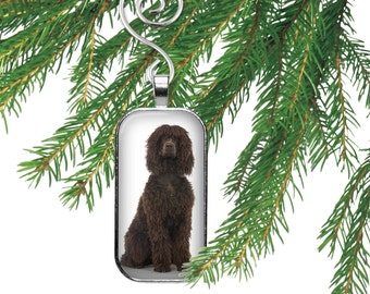 Irish Water Spaniel Dog Ornament
