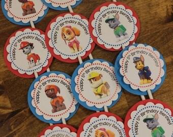 Paw Patrol Dogs Cupcake Tops