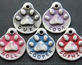 Pet ID Tag - Custom Pet Tag - Dog ID Tag - Handmade - Funny Dog Tags for Pets - Name Tag Dogs - Cute Dog Tags - Personalized
