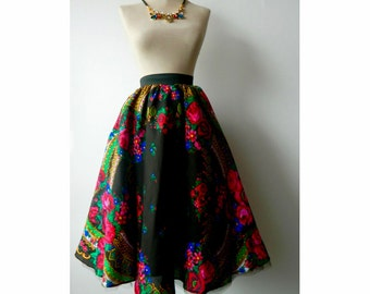 Flower Skirt , Gypsy  Skirt , Bohemian Skirt , Boho fSkirt , Urban skirt , Custom made skirt