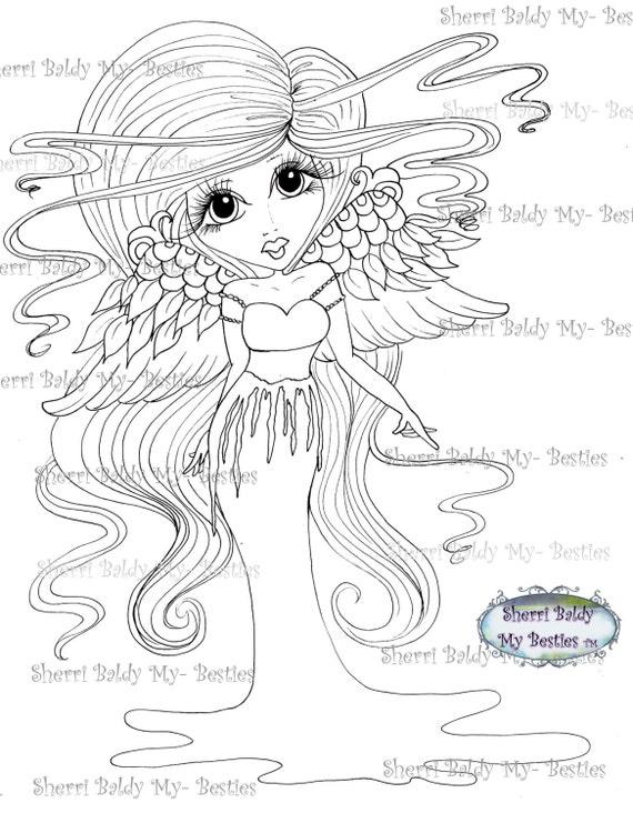 INSTANTÁNEA descargar Digital Digi sellos ojo grande Big Head Dolls Scan0049 mis Besties por Sherri Baldy