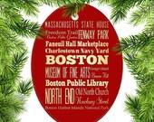 CHRSTMAS SALE Boston, Massachusetts Christmas Ornament