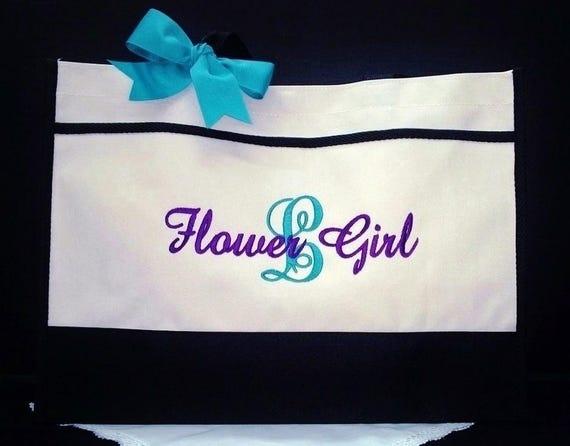 Set of 13 Personalized Bridesmaid Tote Bags Wedding TotesMonogrammed Bags