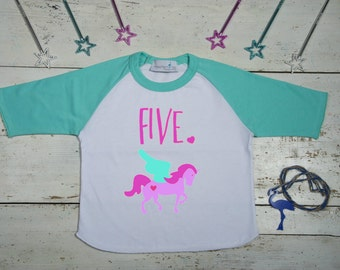 Fifth Birthday Shirt - 5th Birthday Shirt - Unicorn - Fifth Birthday Tee - Fifth Birthday Shirt - Unicorn Birthday Shirt