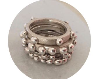 Mystic Bobble Stackable Ring Set