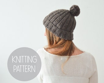 KNITTING PATTERN - easy foldover brim beanie - the scout beanie