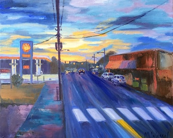 Haywood Street, Asheville, North Carolina / 16 X 20 / Original Oil Painting