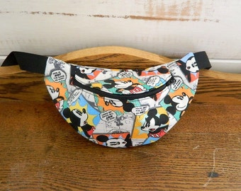 "Disney's Mickey Mouse ""Comic Strip"" Fanny Pack - Hip Bag - Children thru Adult Sizes"