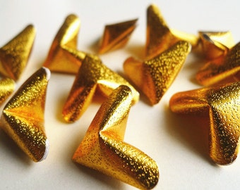 3D Origami Hearts - Gold Paper Hearts/Party Supply/Home Decor/Gift Fillers/Embellishment