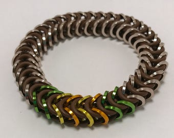 Orisa Inspired Stretch Box Chain Chainmaille Bracelet