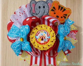 Circus Hair Bow, Circus Birthday Party, Carnival Hair Bow, Over the Top Circus Bow