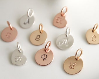Inital Charm Initial pendant Initial letter charms Personalized letter charm Sterling Silver initial charm Rose Gold initial charm
