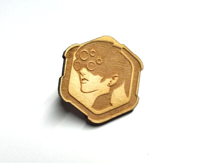 Overwatch Widowmaker Pin   Laser Cut Jewelry   Wood Accessories
