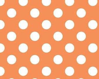 Orange Polkadot Flannel