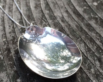 SPOON recycled silverware cutlery layering necklace