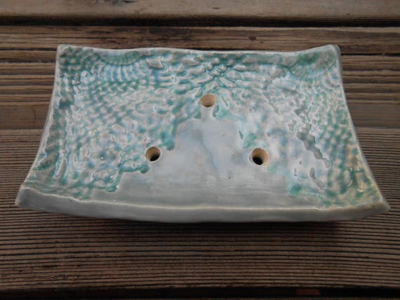 Blue Lace Ceramic Soap Dish