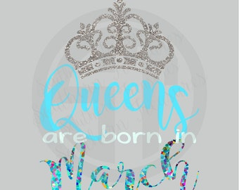 Queens are born in January, February, March, April, May, June, July, August, September, October, November, December Tshirt Sweatshirt Raglan