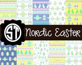 Nordic Easter Patterns Vinyl (Indoor, Outdoor,  Glitter vinyl , HTV iron on, Glitter HTV) Lamination available Mask not included