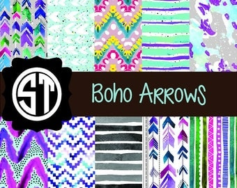 Boho Arrows Patterns Vinyl (Indoor, Outdoor,  Glitter Vinyl, HTV iron on, Glitter Heat Transfer) Lamination available Mask not included