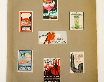 Large Collection circa 1920s Vintage European Advertising POSTER STAMPS Cinderellas