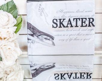 SKATER Definition Figure Skating Cosmetic Bag Gift for Skaters Makeup Case