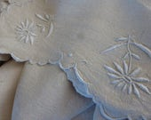 Superb Rustic Pure Linen Sheet,  French Antique Circa 1910 ish