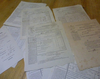 1830's Antique French Tax Declaration, French Antique Papers.