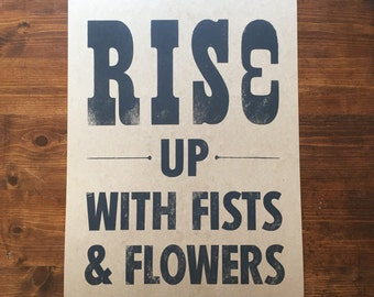 Rise Up Letterpress Print