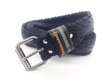 "Bicycle Tire Belt ""CONTINENTAL"" (upcycled vegan handmade) by tirebelt.com - Fall 2016"