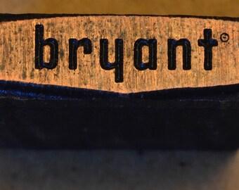 Vintage Bryant logo print block