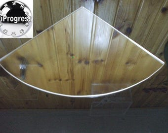 Replacement for Existing Wall Glass Corner Shelf by Clear Acrylic Shelf