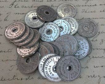 Set of 5 Tokens -vintage tax tokens old coin -  state of washington- vintage sales tax token