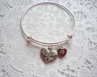 Retirement Bangle Bracelet, Congratulations on your Retirement Bracelet!, Retirement Bangle Bracelet