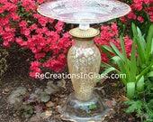 Garden art. Bird bath. Bird feeder.