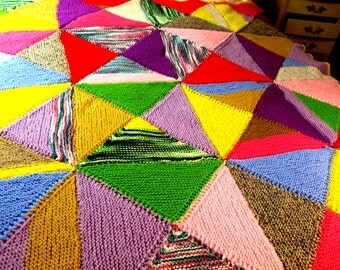 """Hand Crocheted Colorful Afghan 60"""" x 60"""""""