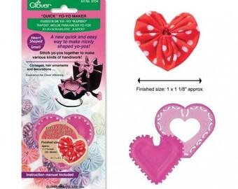 Quick Yo-yo Maker Heart Shaped (small) - Clover 8704