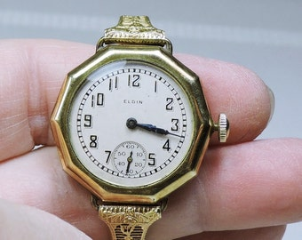 Antique Elgin Watch Circa 1871 NON Working 12K gold filled 7 Jewels Free Shipping