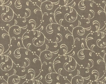 Cocoa Feathered Swirl Fabric By Mdg Brown And White Fabric