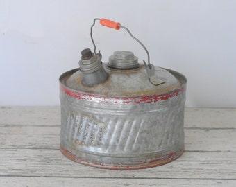 Vintage 2 Gallon Gas Can Fuel Can Gasoline