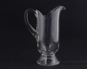 Vintage Clear Glass Water Juice Pitcher