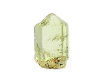 Apatite crystal Gemmy Transparent Pale Yellow Green Thumbnail Mineral Specimen, Mexican Gemstone, Semiprecious gem
