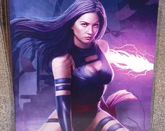 X-Men Psylocke Glossy Art Print 11 x 17 In Hard Plastic Sleeve