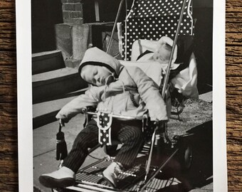 Original Vintage Photograph Two Weary Travelers 1959